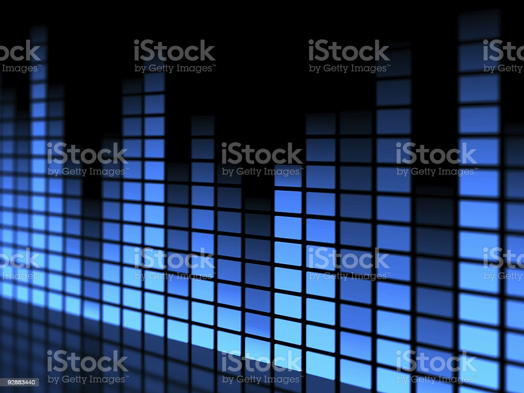 Multi blue colored tall and short lines stock photo