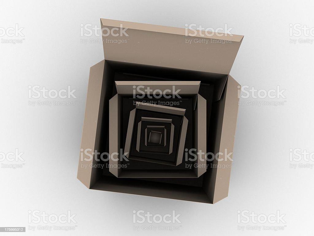 Multi cardboard boxs royalty-free stock photo