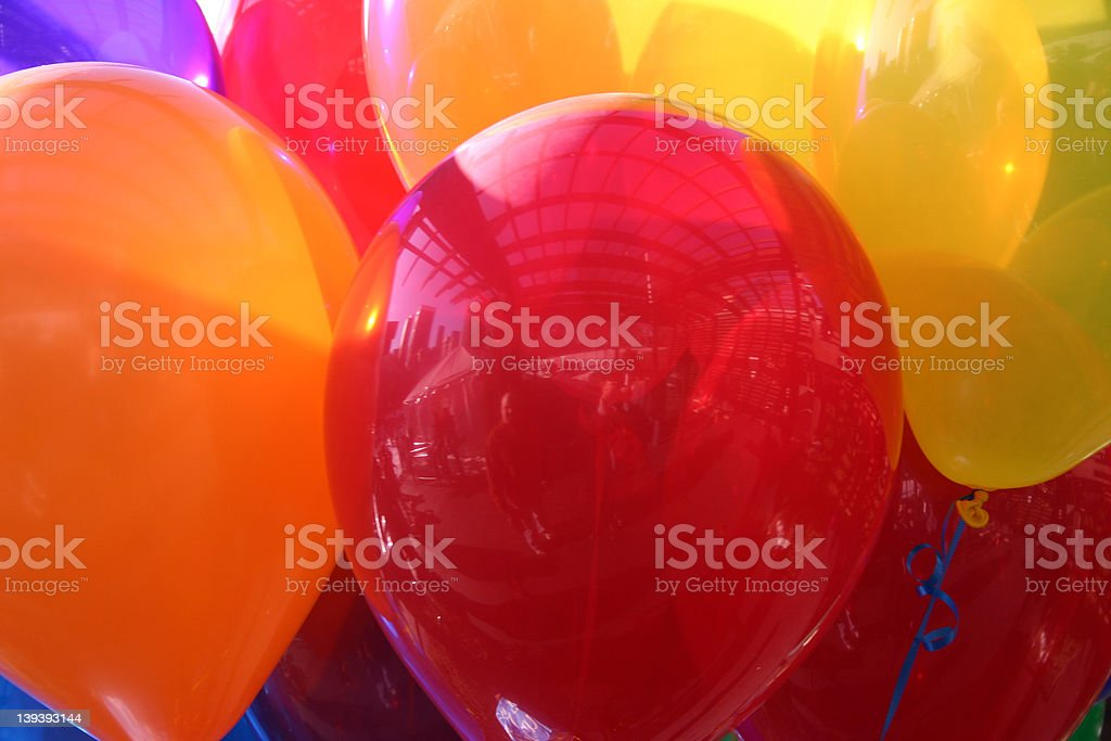 Multi color balloon bouquet royalty-free stock photo