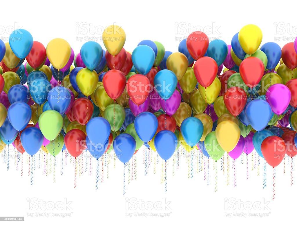 Multi color balloons stock photo