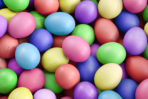 multi color eggs, for easter holiday – Foto