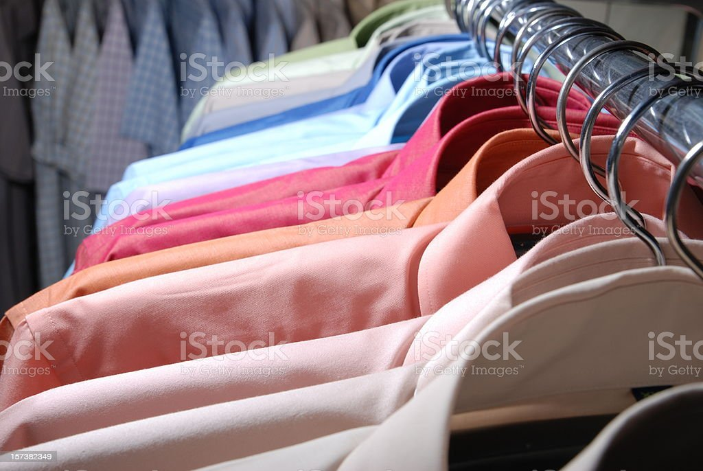 Multi color shirt royalty-free stock photo