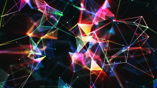 Multi colored abstract network background Multi colored abstract network background ultra high definition television stock pictures, royalty-free photos & images