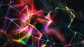 Multi colored abstract network background