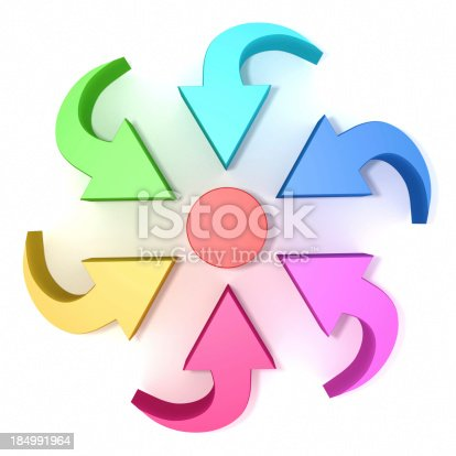 istock multi colored arrow sign 184991964
