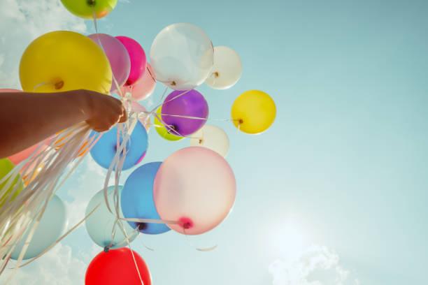 Mehrfarbige Luftballons – Foto