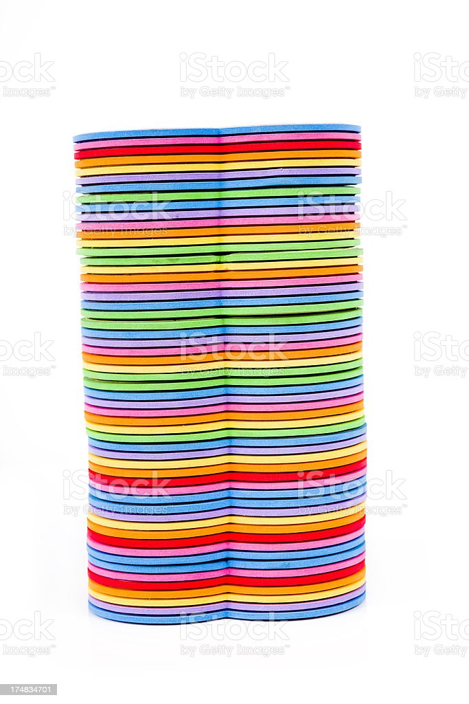 Multi colored books child XXXL royalty-free stock photo