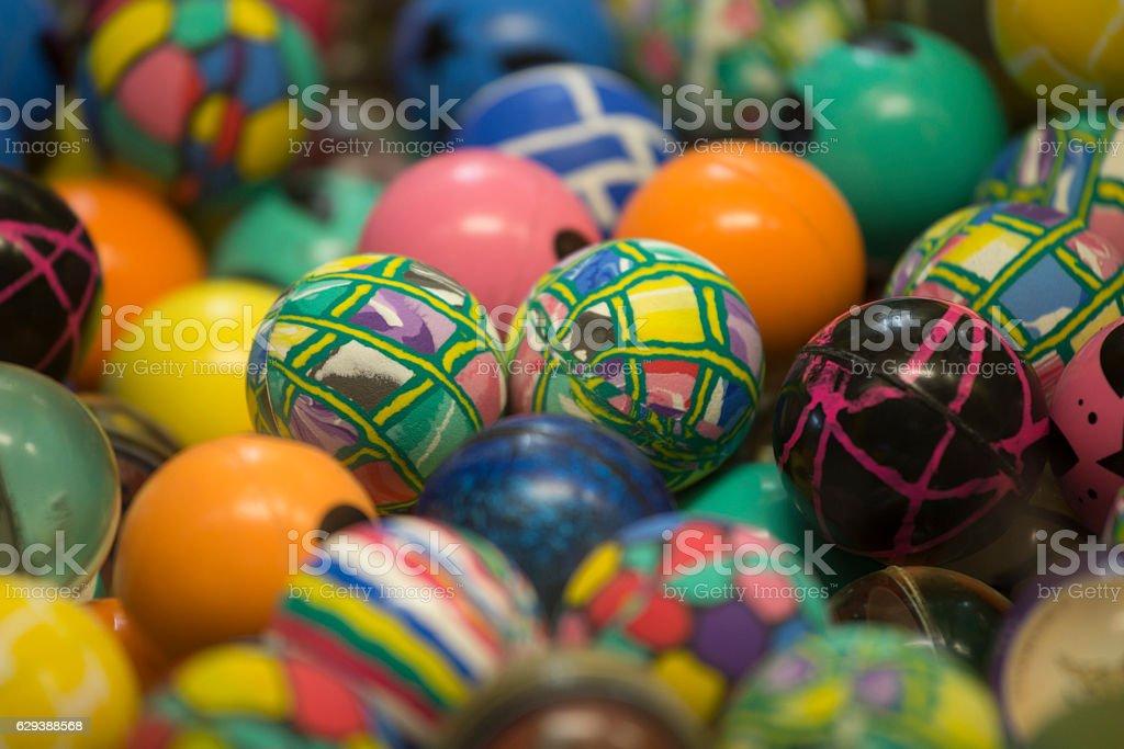 Multi Colored Bouncing Balls stock photo