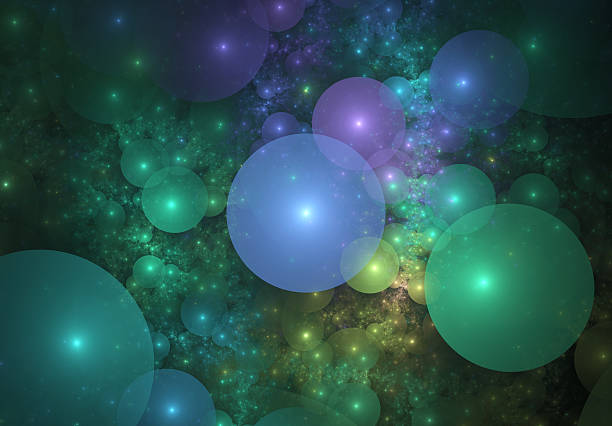 Multi colored bubbles stock photo