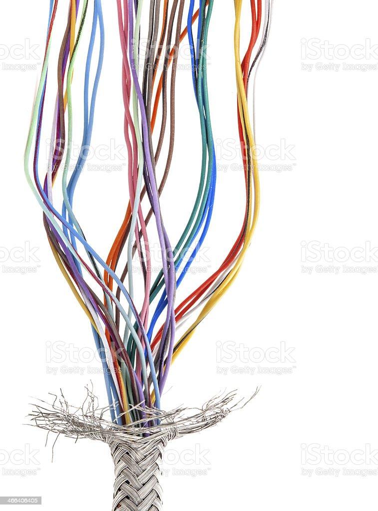 Multi colored cable stock photo