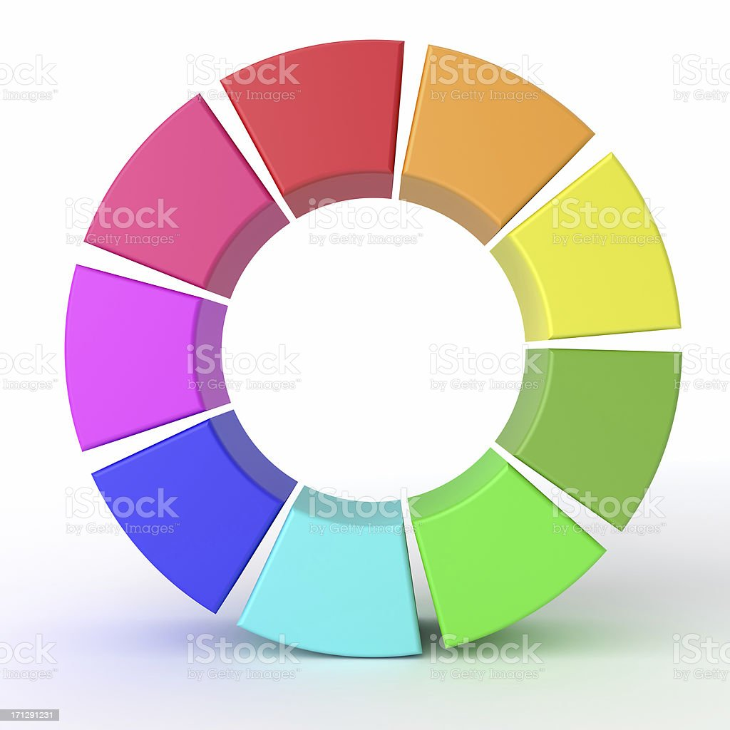 Multi Colored Circle royalty-free stock photo