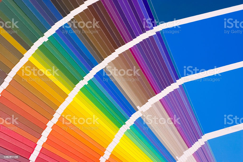 Multi colored color swatch for choosing colors royalty-free stock photo