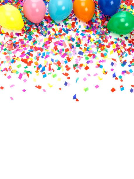 Multi farbige Konfetti Hintergrund – Foto