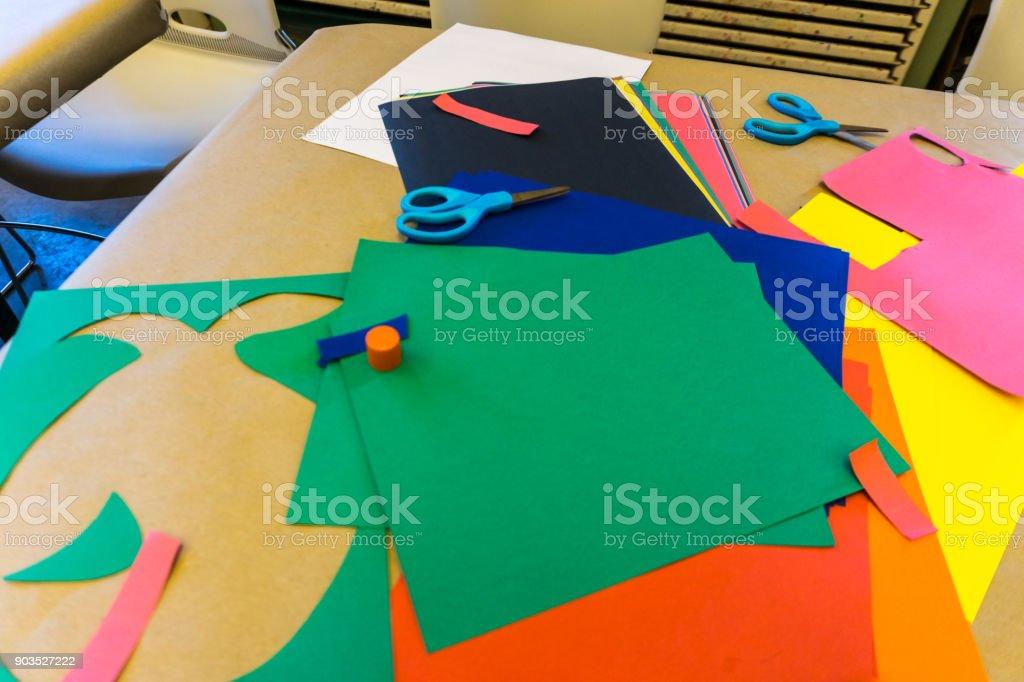 Multi Colored Construction Paper stock photo
