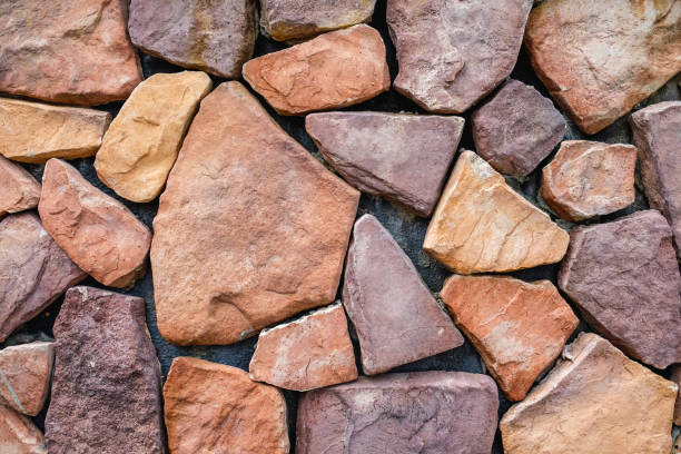 Multi colored crushed rock texture background stock photo