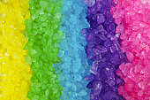istock Multi colored Crystal Rock Rainbow Background 147076013
