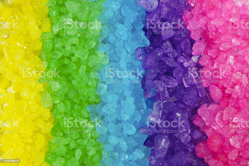 Multi colored Crystal Rock Rainbow Background stock photo