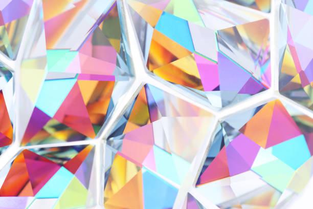multi gekleurde kristallen achtergrond - kostbare edelsteen stockfoto's en -beelden
