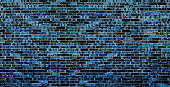 istock Multi Colored Dark Blue Brick Wall Abstract Background 941496726