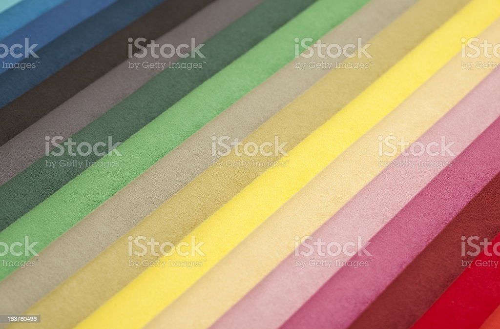 multi colored fabric swatch royalty-free stock photo
