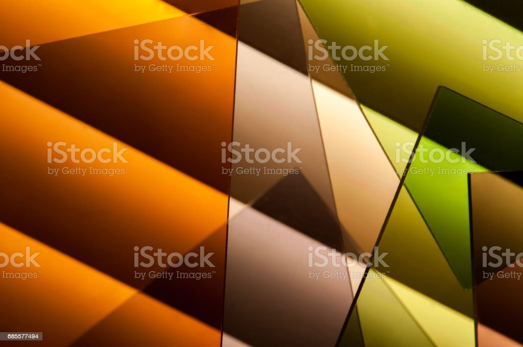 Multi colored filter in a row royalty-free stock photo