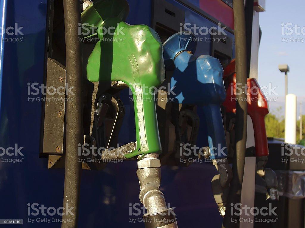 Multi Colored Gas Pump stock photo