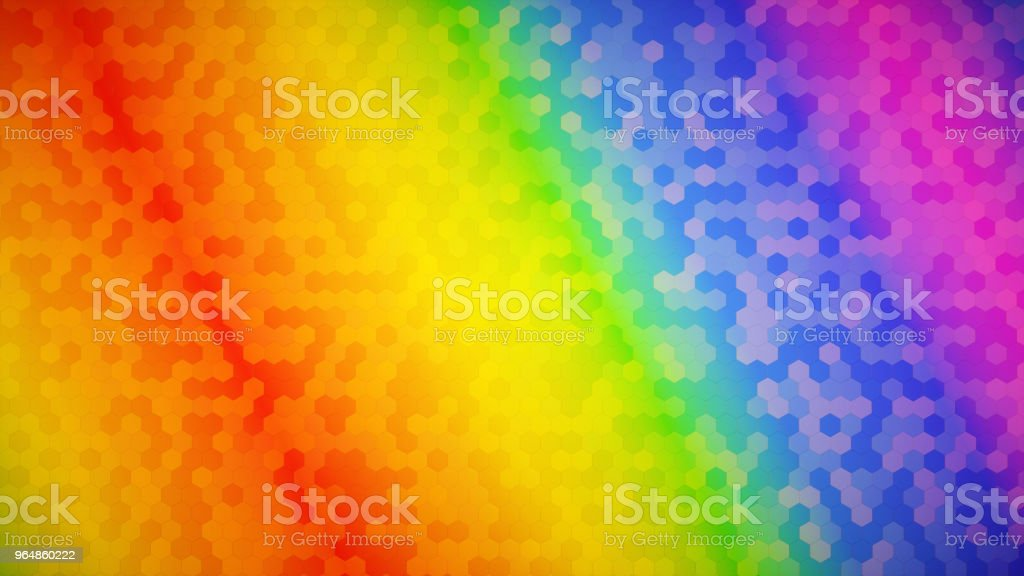Multi colored honeycomb wall structure rainbow pattern royalty-free stock photo