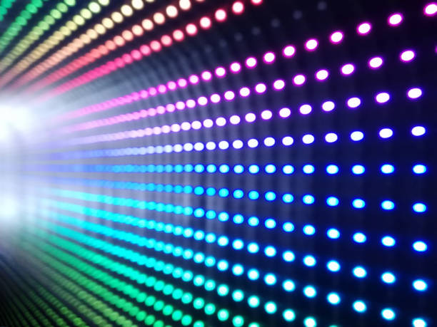 multi colored led lights background - disco lights stock pictures, royalty-free photos & images