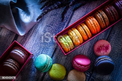 istock Multi colored macaroons in two boxes 904543478