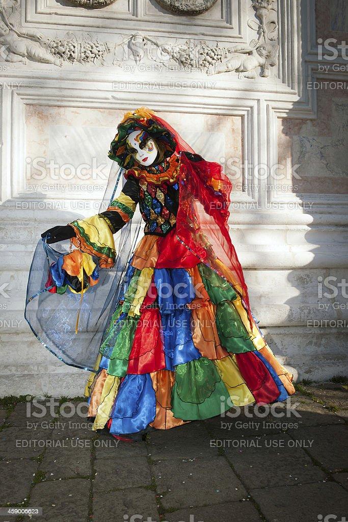Multi Colored Mask Carnival 2013 San Zacharias Venice Italy royalty-free stock photo