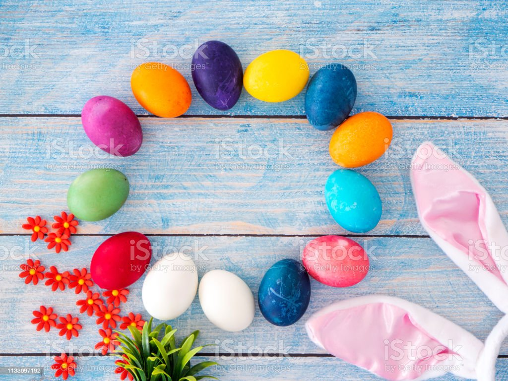 Multi Colored Painted Easter Eggs Stock Photo Download Image Now Istock