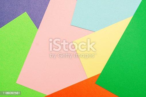 istock Multi colored paper textured 1186092561