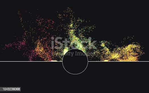 istock Multi colored particles 1043236068