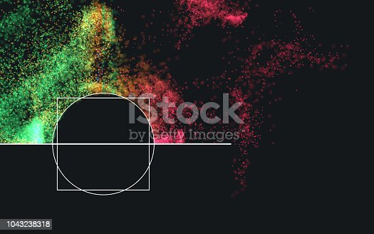 istock Multi colored particles 1043238318