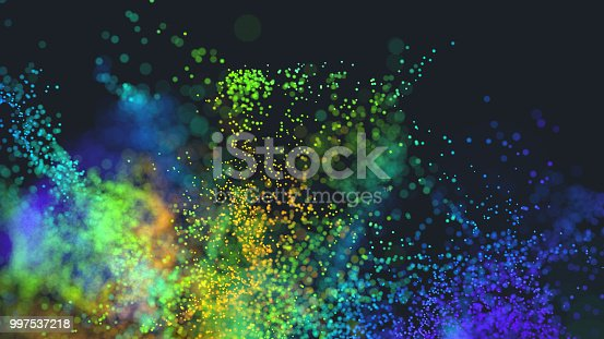 istock Multi colored particles 997537218