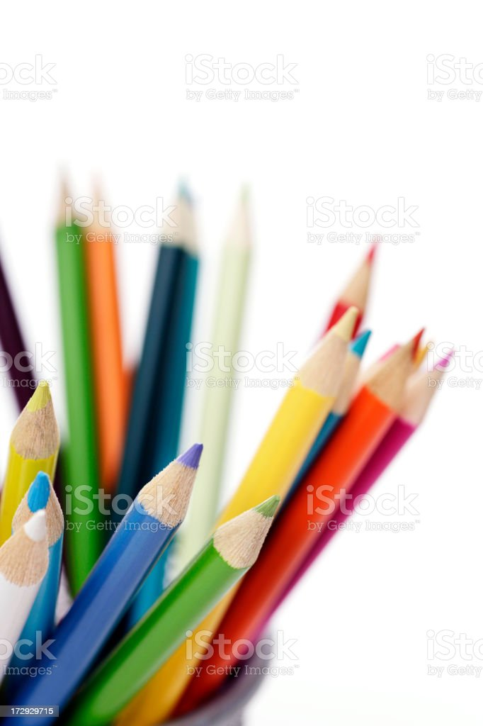 Multi colored pencil royalty-free stock photo