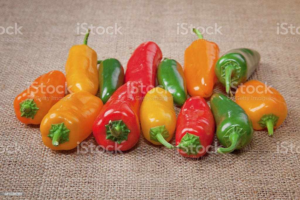 Multi colored peppers royalty-free stock photo