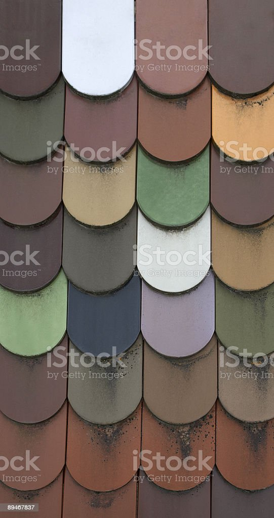 multi colored roof tile pattern royalty-free stock photo