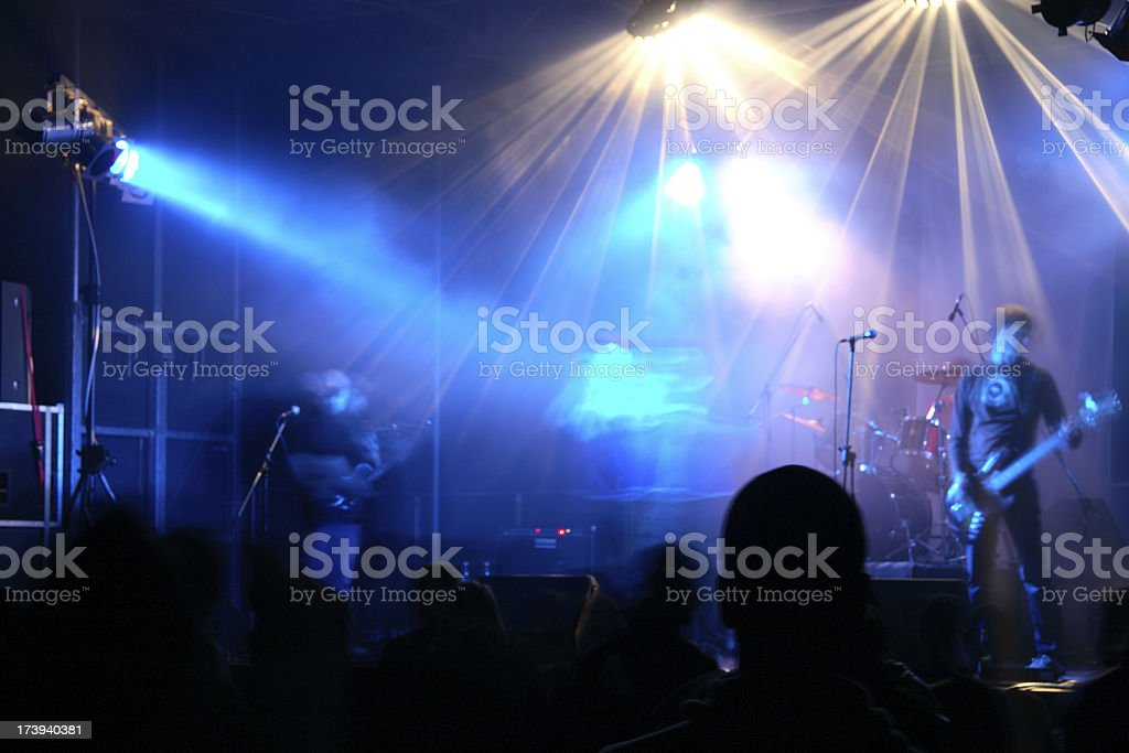 multi colored stage light on a concert royalty-free stock photo