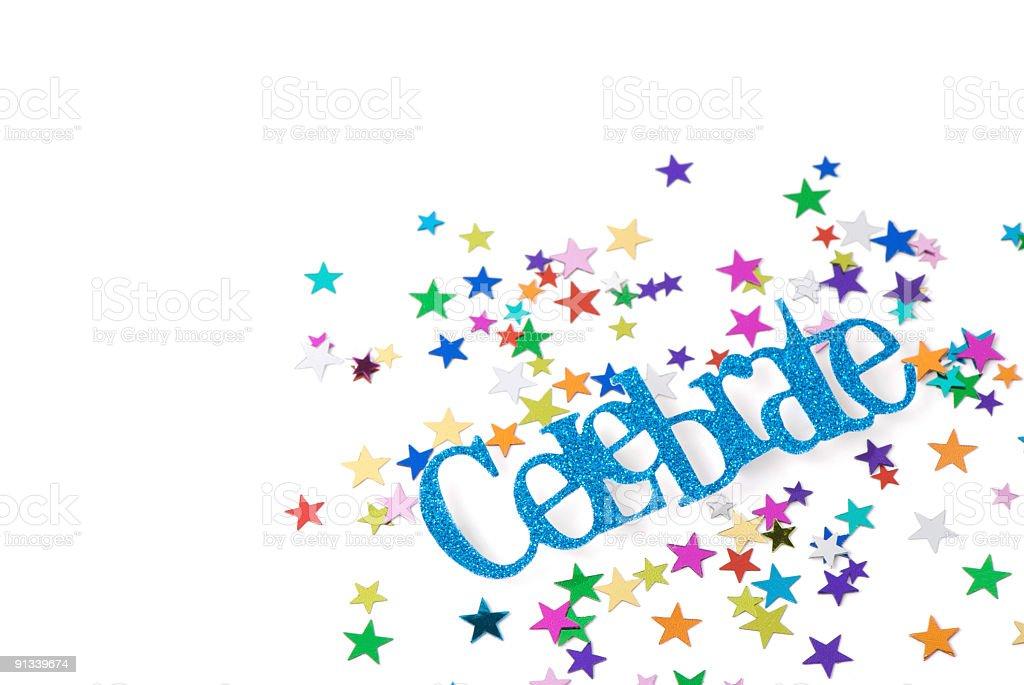 Multi Colored Star Confetti royalty-free stock photo