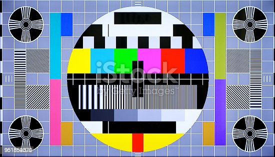 istock TV multi colored test pattern for digital television 951859370