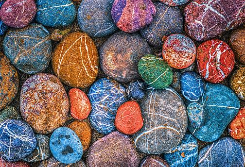 Multi Colored wet stones