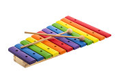 Multi colored xylophone