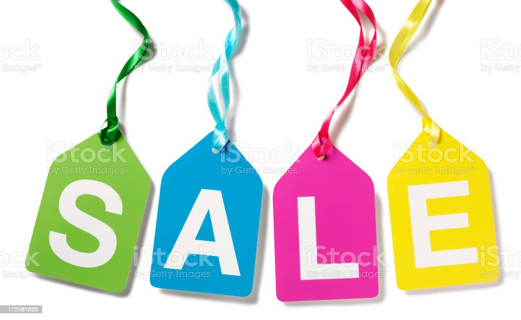 Multi Coloured Labels Spelling Sale royalty-free stock photo