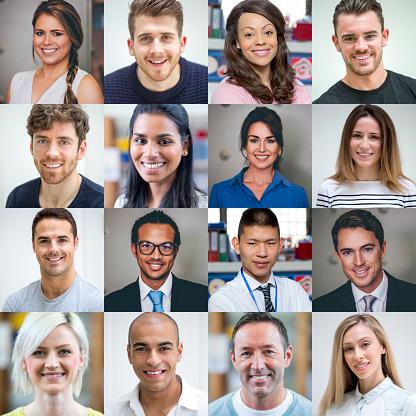 Multi Ethnic Adult Portraits 照片檔及更多 30多歲 照片