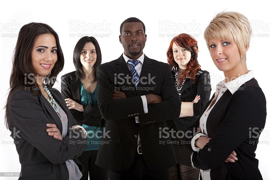 Multi ethnic business team royalty-free stock photo