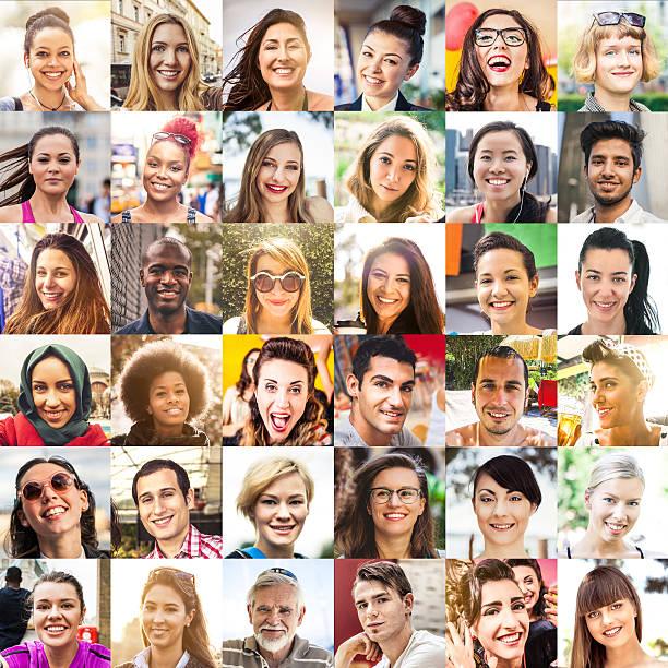 Multi etnico persone Ritratti - foto stock