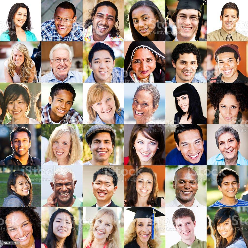 Multi Ethnic Portraits stock photo