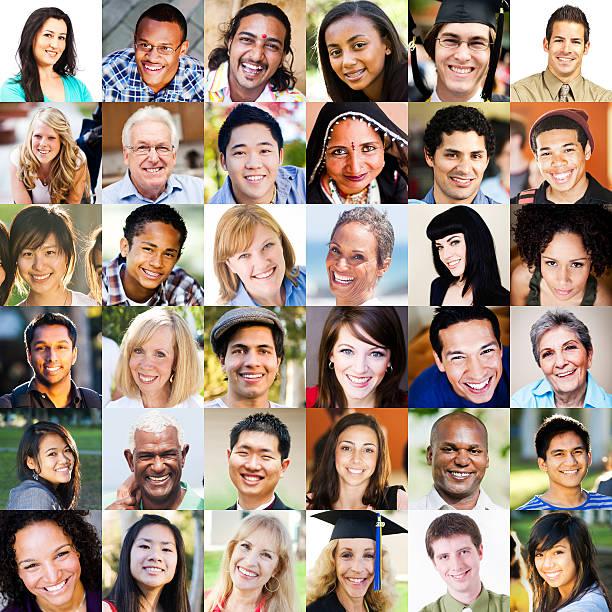 Multi etnico Ritratti - foto stock