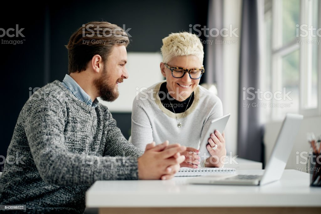 Multi ethnic team working at modern office stock photo
